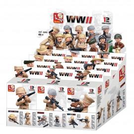 Présentoirs étroit de 12 boites Figurines Jouet ARMY - SLUBAN