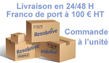 Franco de port à 100 € - Livraison 24/48 H - Commande à l'unité