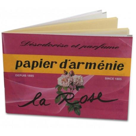 Carnet de papier d'Arménie à la Rose