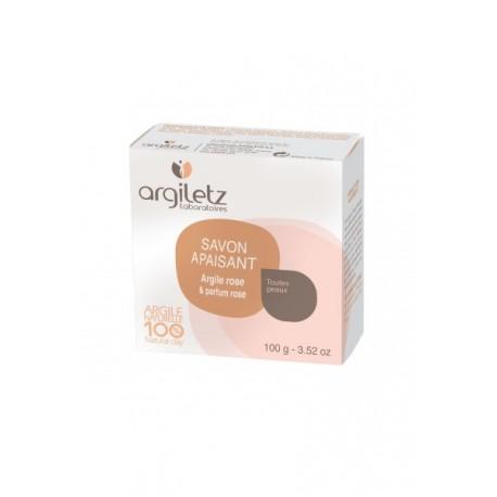 Savon Apaisant Argile Rose – Parfum Rose – 100 gr