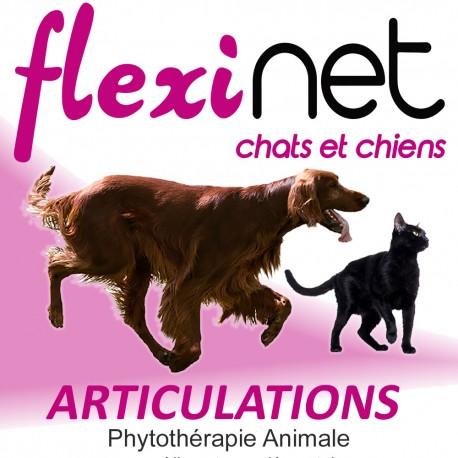 FLEXINET Confort et Souplesse Articulaire pour les Chats et les Chiens de -10 kgs