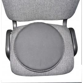 Coussin rotatif adaptable sur une chaise ou un fauteuil de voiture