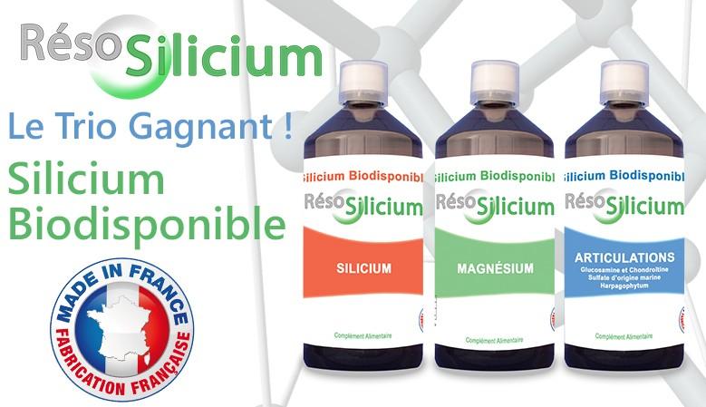 La toute nouvelle formule du Reso Silicium, plus performante, est disponible en 3 déclinaison