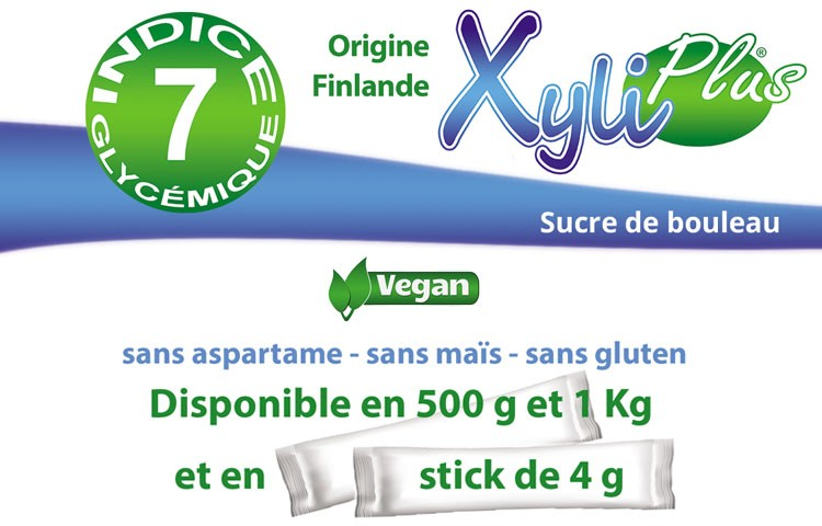 Sucre de bouleau Xylitol disponible en doypacks de 1 kg 500 gr et dosettes sur Resolutive